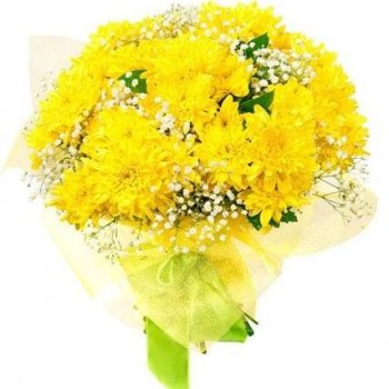 Bouquet of yellow chrysanthemums (7 pcs)