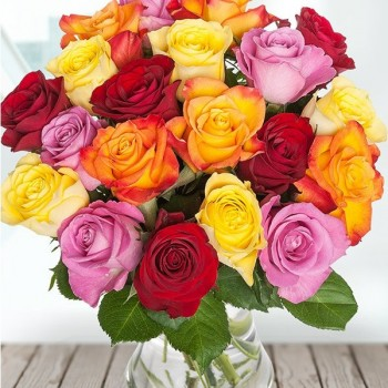 Mixed roses bouquet (select number)