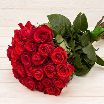 Red roses 50 cm (select number of flowers)