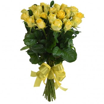 Yellow roses 60 cm. Changeable amount of rose in bouquet.