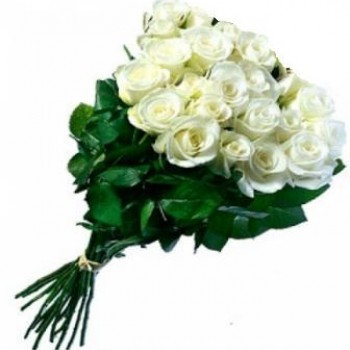 Long white roses 70 cm (variable quantity of flowers)