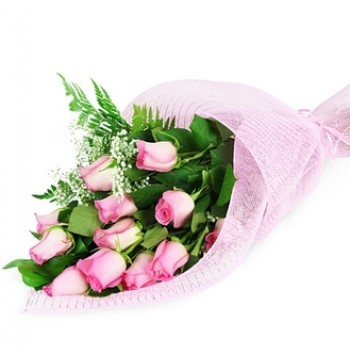 Bouquet of pink roses 50 см Cascade
